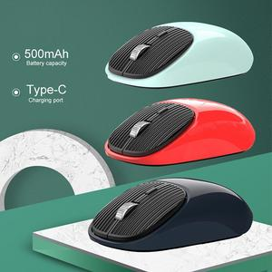 Wireless Mouse Mute Sensitive Ultra-thin 2.4G Driver-free USB Mouse for Notebook