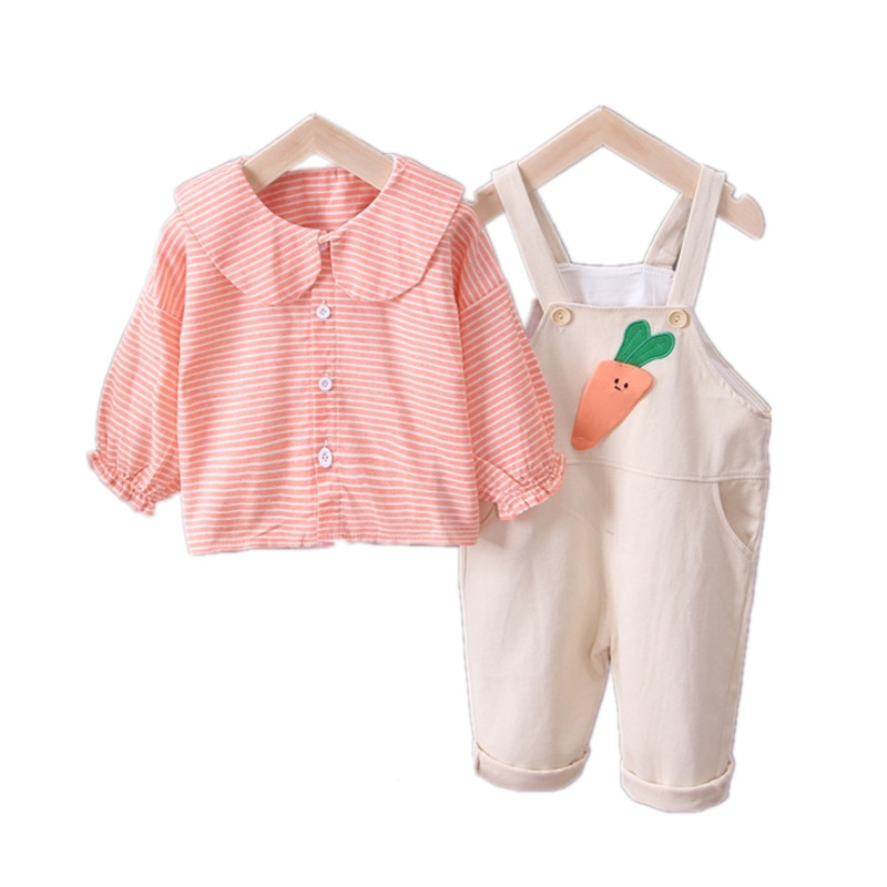 girls sets autumn winter 2020 new clothing children s set puff sleeve t shirt leather skirt 2pcs suit outfit baby kids clothes Children Fashion Clothes New Spring Autumn Baby Girls Cartoon T Shirt Pants 2Pcs/sets Kids Infant Clothing Toddler Sportswear