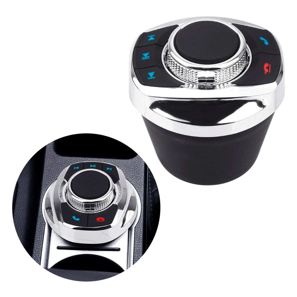 8 chave música resposta & desligar botões de controle remoto jogador para o carro android navegação sem fio volante botão controle
