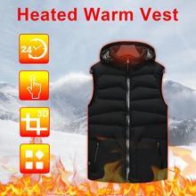 USB Winter Intelligente Beheizten Wärmer Weste Mit Kapuze Heizung Jacke Atmungs Mantel Control Temperatur Outdoor Camping Wandern Golf