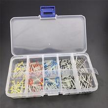 160 uds/kit de poste Dental con 32 uds, pasadores de enlace de taladro, Kits de taladros cónicos de poste de tornillo, recargas, suministros de herramientas dentales cónicas plateadas