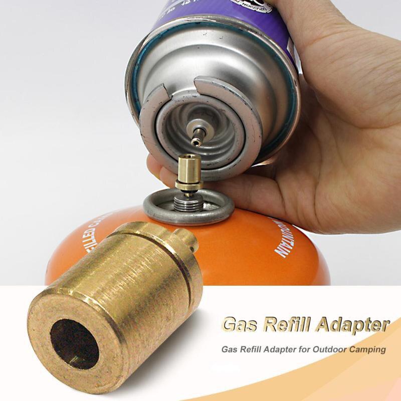 Adaptador de recarga de Gas hobbycarril estufa de Camping al aire libre cilindro de Gas tanque de Gas quemador de Gas accesorios de senderismo inflado de butano
