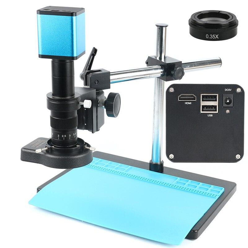 Hd completo sony imx290 hdmi foco automático tf registro de armazenamento de vídeo imagem 180x lente microscópio de vídeo industrial conjunto câmera