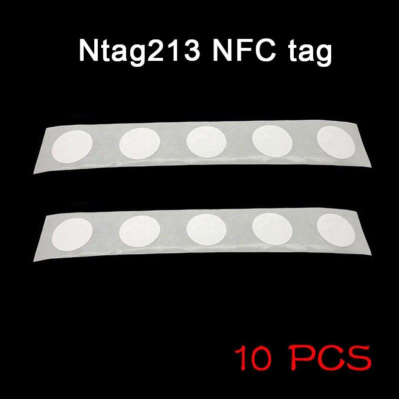 10 Uds etiqueta adhesiva NFC 13,56 MHZ 25mm Chip Universal duradero para teléfono móvil @ M23