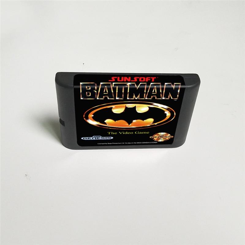 Batman The Video Game - 16 Bit MD Game Card for Sega Megadrive Genesis Video Game Console Cartridge