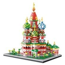 4650 Pcs Mini Diamant Blok Beroemde Stad Architectuur Wassili Kathedraal Model Bouwstenen Bakstenen Educatief Speelgoed Voor Kid Gift