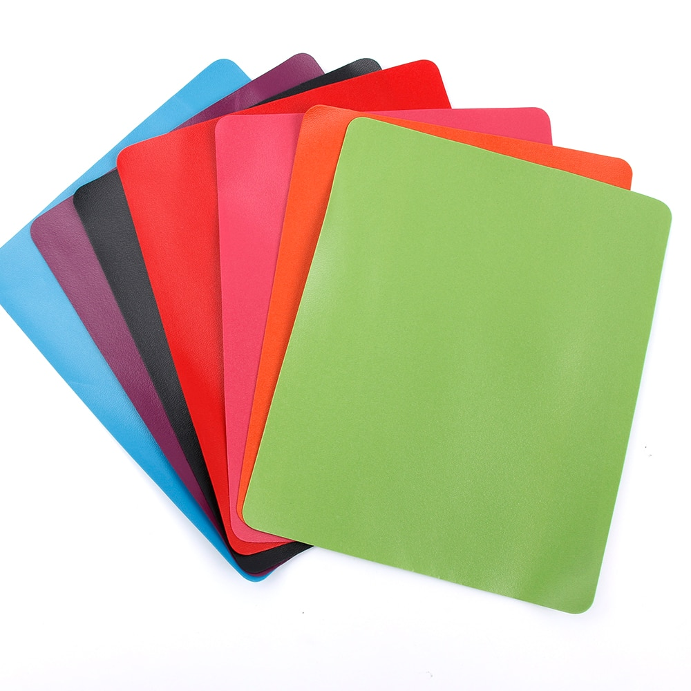 1 pçs ultra-fino cor mouse almofada anti-deslizamento de pulso repousa tapetes de ratos para jogos portátil estudante papelaria espessura 0.1 cm