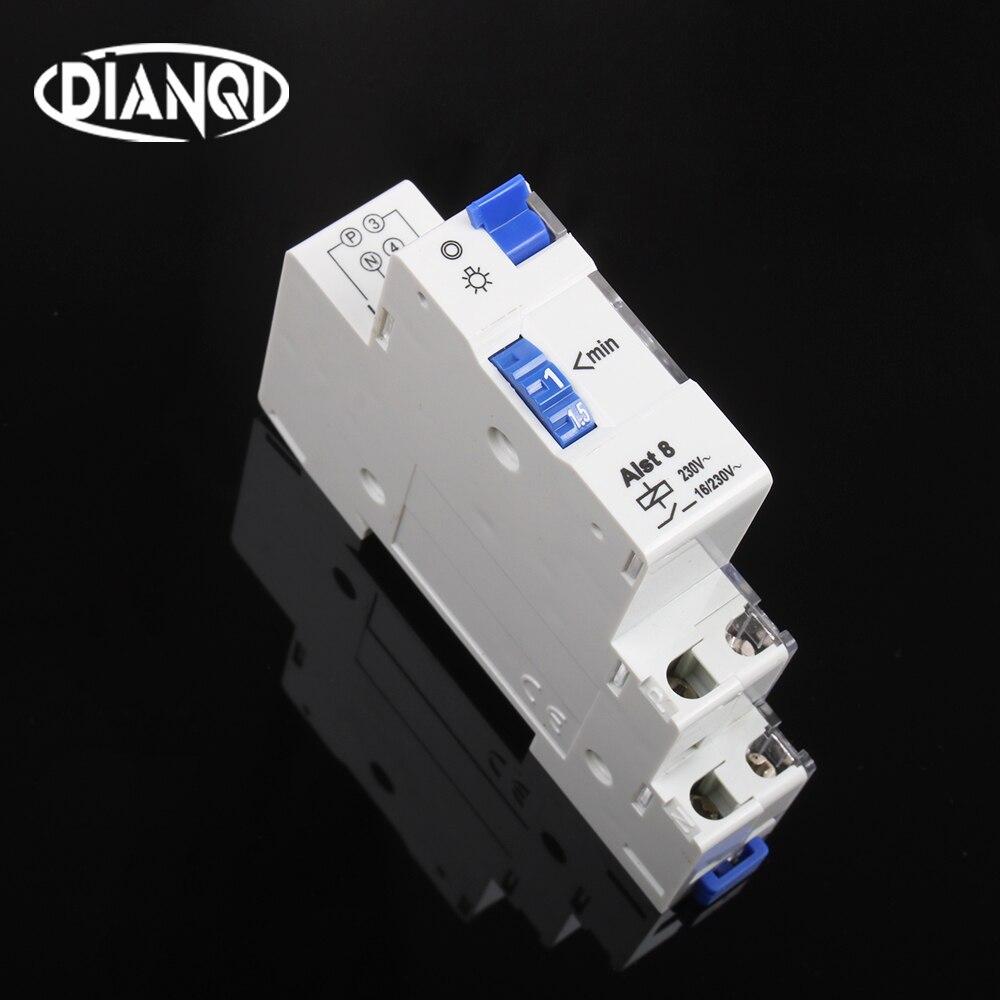 ALST8 (E8) E8 Luz de escalera interruptor com temporizador controlador 16A 220V buena calidad 1-7 minutos 1 a 7 minutos temporizador