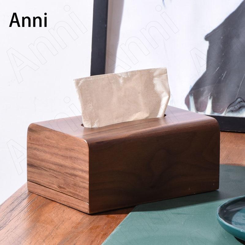خشب القيقب الأنسجة صناديق اليابانية الحد الأدنى الجوز الخيزران حامل مناديل خشبية المنزل طاولة القهوة سطح المكتب ورقة منشفة صندوق تخزين