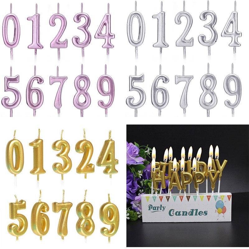 Número pastel vela Toppers Cupcake feliz pastel de boda cumpleaños herramientas de decoración aniversaire Fille Taart Decoratie aniversaire
