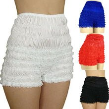 Women Ladies Sexy Lace Frilly Ruffle Knicker Underwear Women Short Pants Safety Shorts