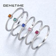 Mücevher ve zaman oluşturulan zümrüt VVS Bague yüzük 925 ayar gümüş üst üste takılabilir bilezik kadınlar için yeşil taş joyas de plata 925 mujer