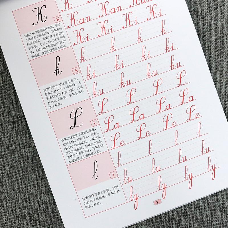 Hermoso libro de copia de escritura a mano francés flor redonda tipo francés caligrafía cuaderno francés libro de escritura a mano LIBRO DE francés