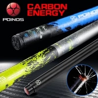 poinos carbon fiber technology pool cue stick billiard cue 3 colors 13mm hell fire tip high quality pu wrap bullet joint 2019