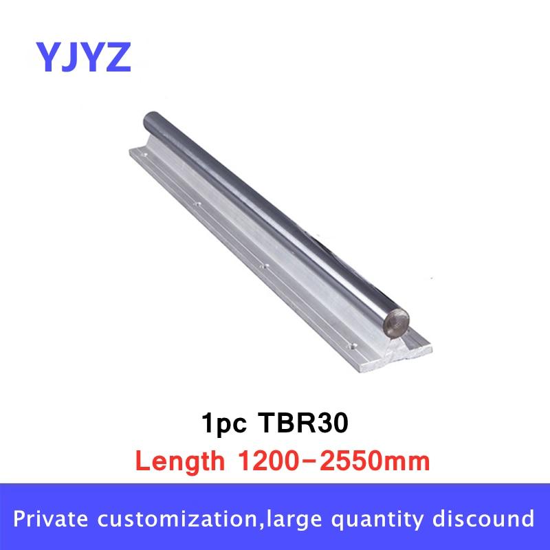 شحن مجاني 1 قطعة TBR30 -L1200mm 1250 مللي متر 1300 مللي متر إلى 2550 مللي متر خطي السكك الحديدية رمح دعم
