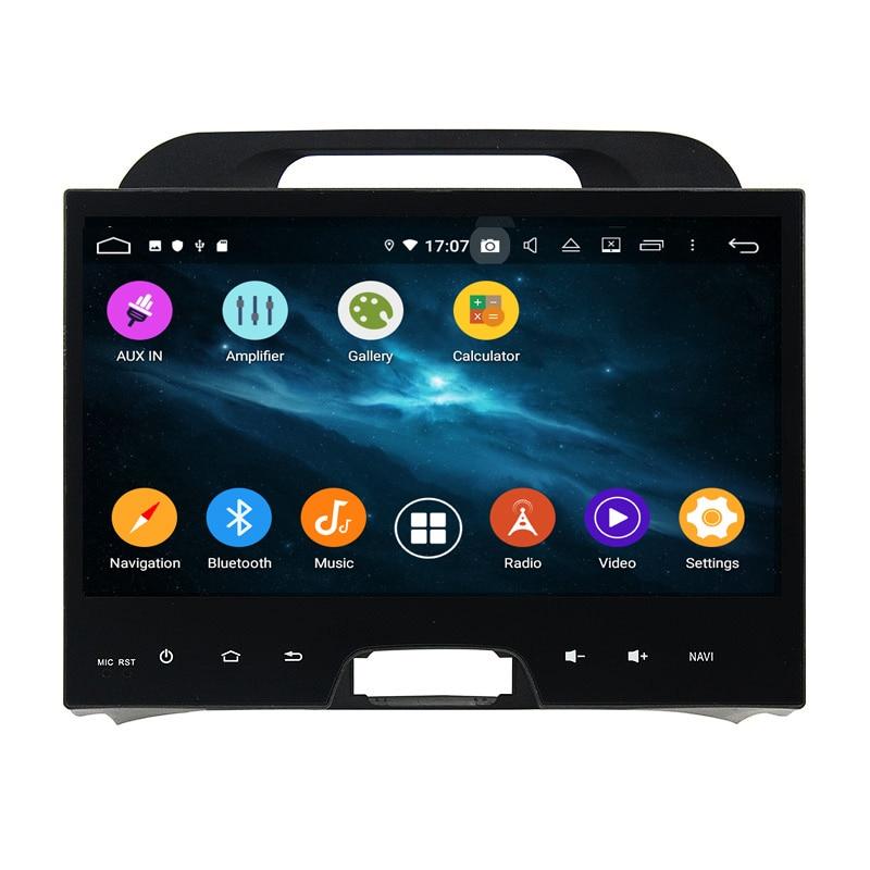 "KLYDE 10,1 ""2 Din 6 Core Android 9,0 Radio del coche para KIA Sportage 2010-2012 reproductor Multimedia 4G + 64G Audio PX6 estéreo 1024*600"