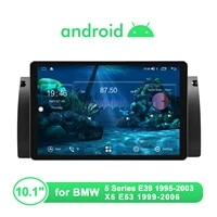 newest 10 1radio tape recorder 1 din android 10 0 car stereo 1280800 for bmw e39 e53 video players carplay autoradio bluetooth