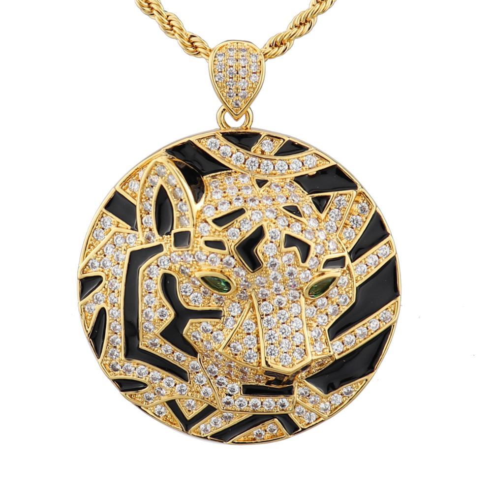 مجوهرات كلاسيكية عالية الجودة على شكل رأس نمر ، مجوهرات من النحاس والزركونيا ، نمط الهيب هوب ، روك ، حفلة رقص ، هدية أوروبية ، دبي ، مجوهرات أف...