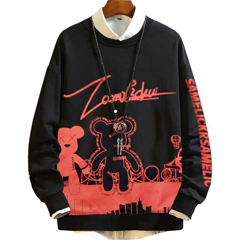 Inverno masculino sportwear hoodies moletom velo outono com capuz grande tamanho venda 8xl 7xl 9xl cor sólida casaco barato vermelho
