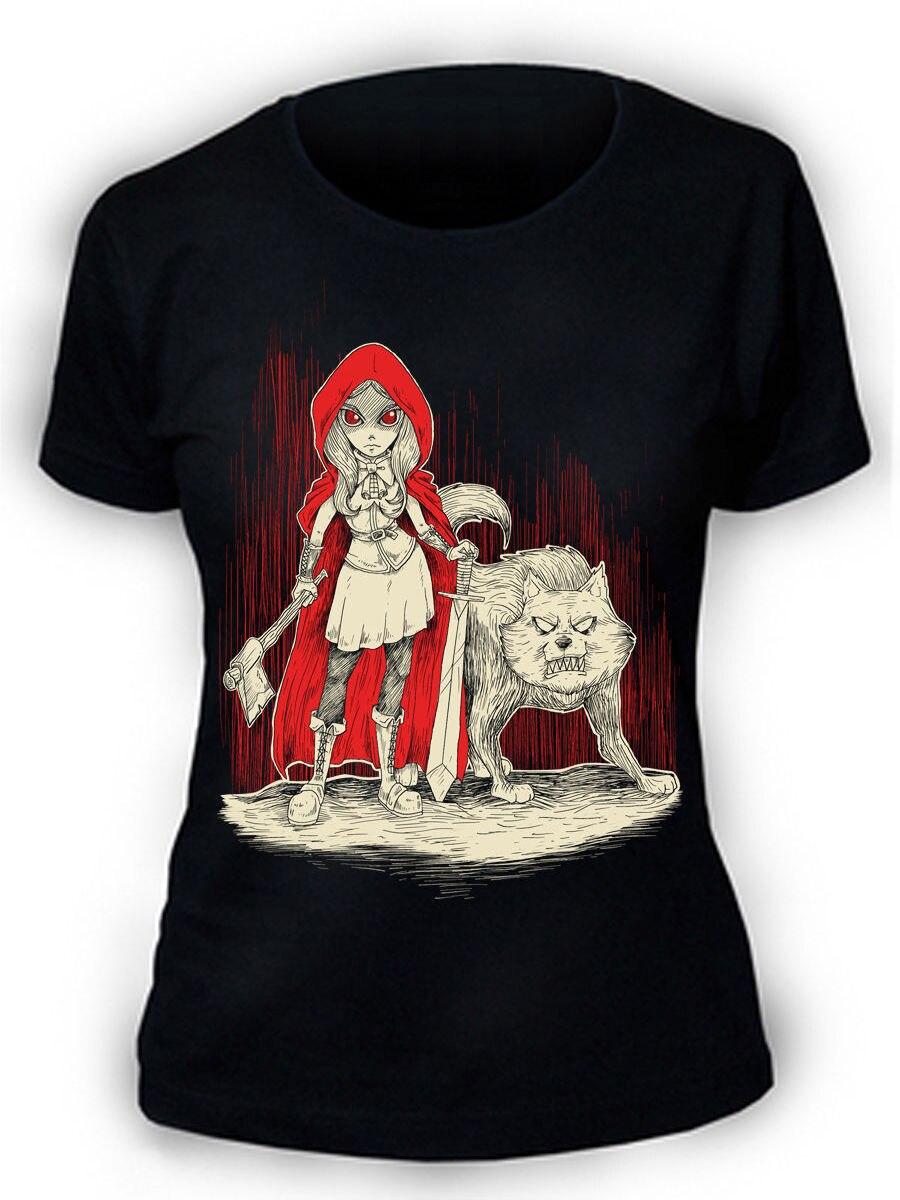 Afterlight Caperucita Roja camiseta damas punk rock gótico emo Lobo