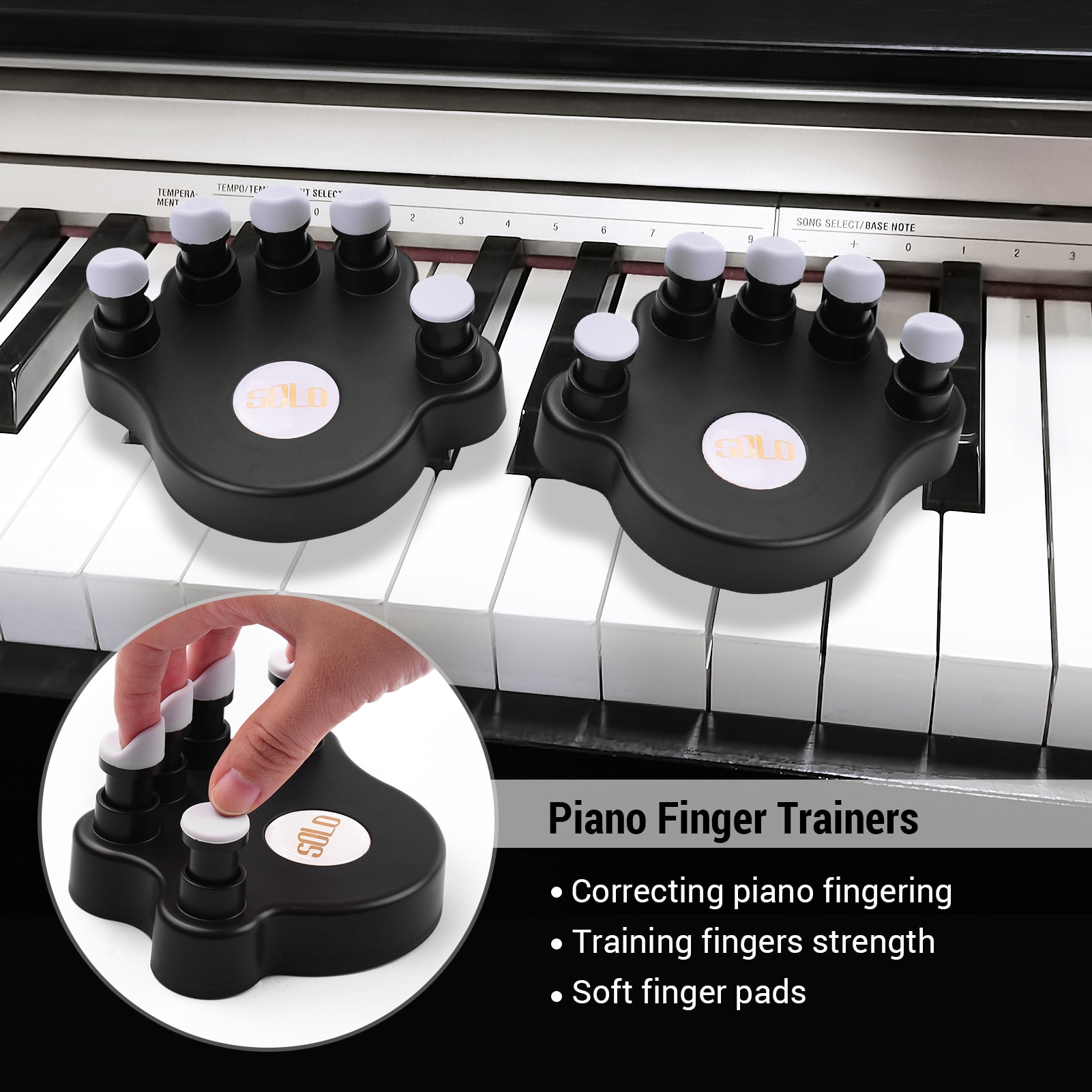 Portable 61 Keys Flexible Roll-Up Piano USB MIDI Electronic Keyboard Hand Roll Piano Sustain Damper Pedal Page Pedal NEW enlarge