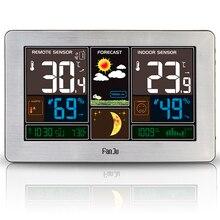 Prise ue FanJu FJ3378 réveil numérique USB charge couleur Station météo intérieur extérieur température humidité prévision chaude
