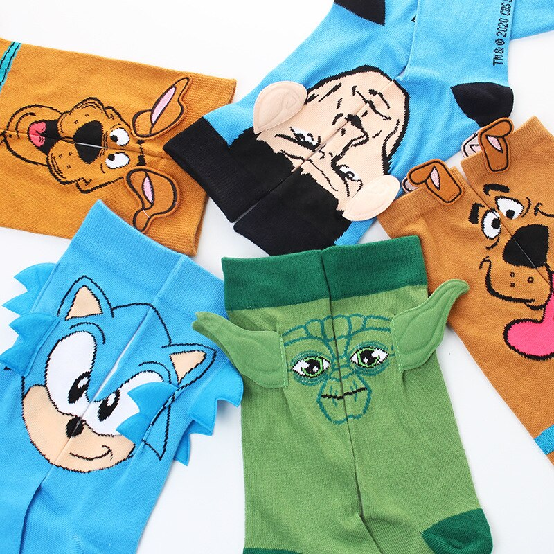 Hot Selling Good High Quality For Man Women Cartoon Character Hedgehog In Stock Funny Socks