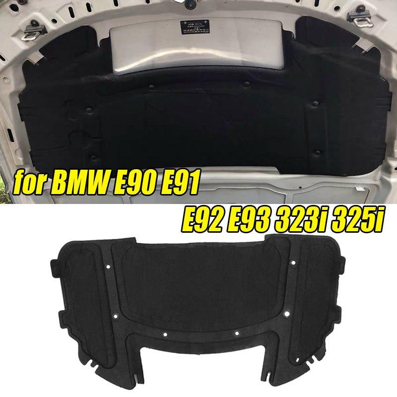Almohadilla de aislamiento acústico negra para motor de capó de coche, 51487059260x126,5 cm, de algodón para BMW E90 E91 E92 E93 323i 325i con núcleo de remache, 64,5
