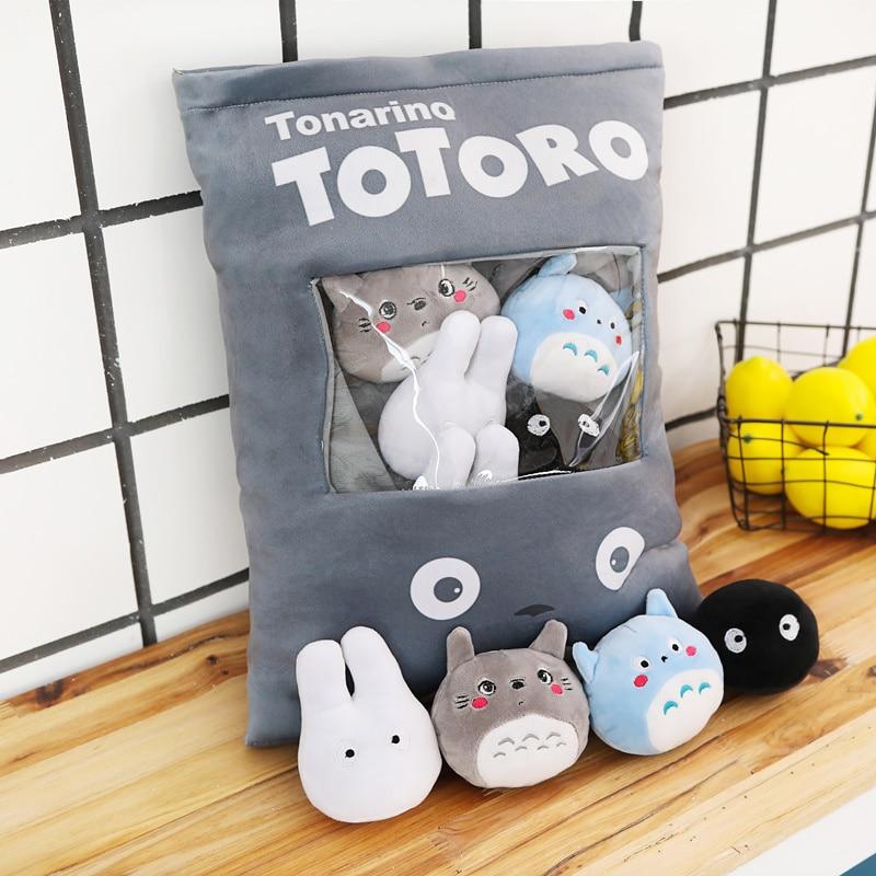 8 قطعة/السلع 4 تصاميم الإبداعية أفخم لعب Totoro وجبة خفيفة وسادة دمى محشوة kawaii جارتي Totoro لعب للأطفال الاطفال هدايا