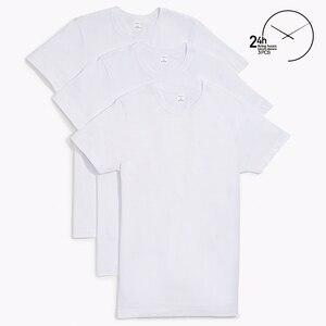 Men's Cotton Crewneck T-shirt. 3 Pieces Pack Men's  Underwear