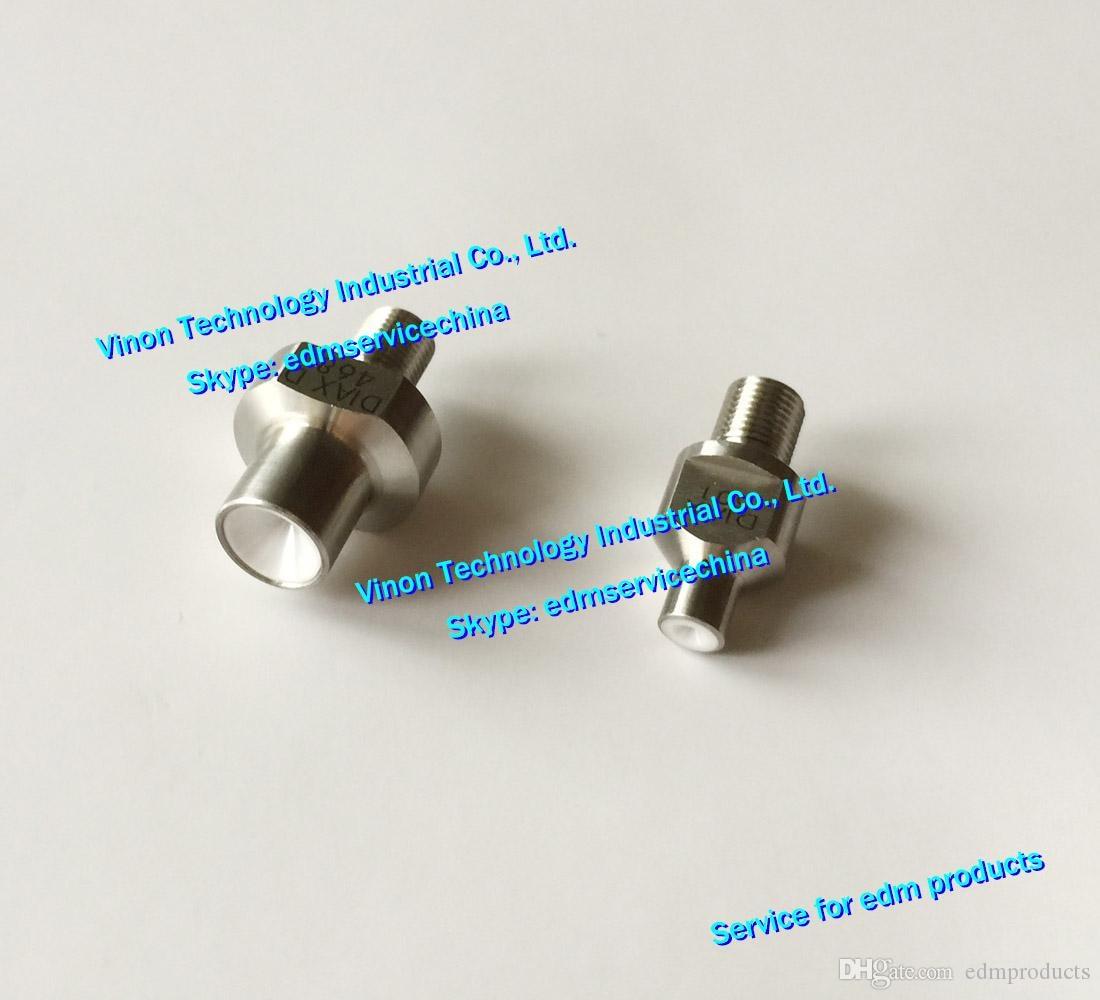(2 قطعة) X052B627G63 + X052B609G63 MV مجموعة دليل الماس dia. 0.255 مللي متر العلوي والسفلي X052-B627-G63 ، X052-B609-G63 ، DEG350 تستخدم DWC-MV1