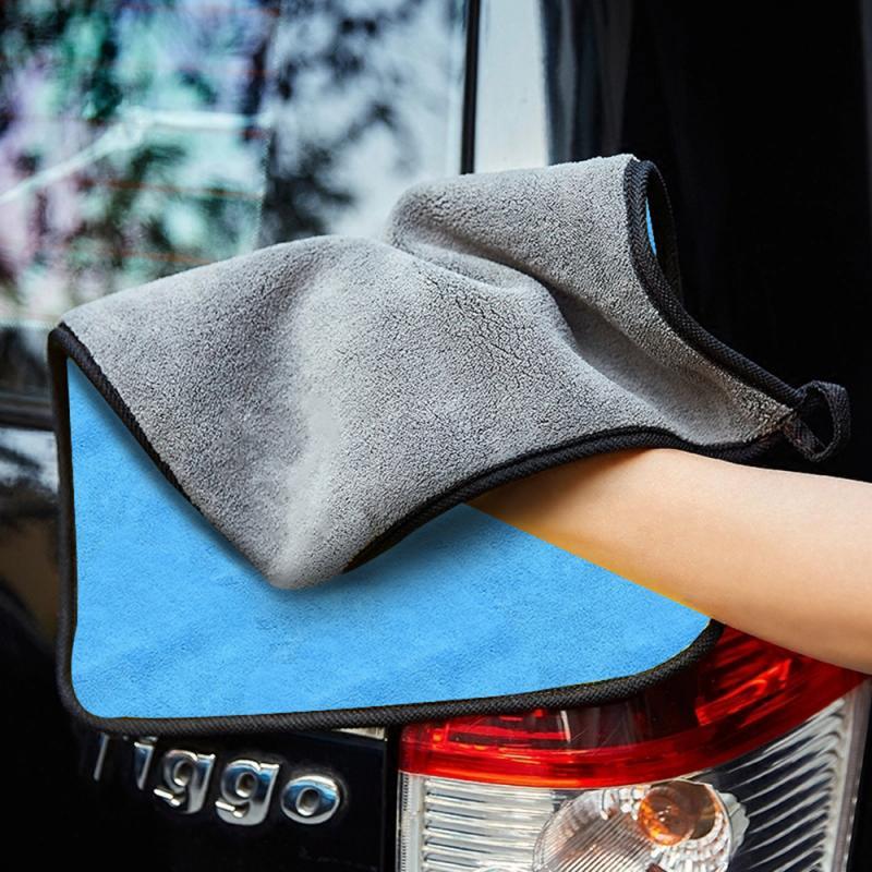 30x3 0/60CM myjnia samochodowa ręcznik z mikrofibry samochód ściereczki do czyszczenia osuszania Hemming szmatka do pielęgnacji samochodu szczegółowo ręcznik do mycia samochodu akcesoria samochodowe