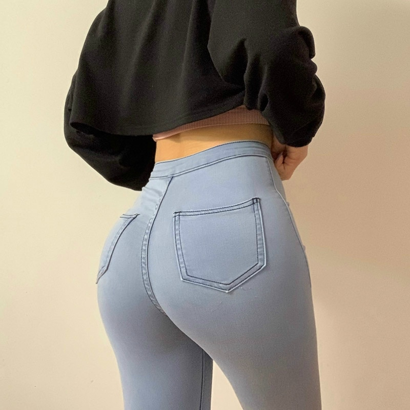 Облегающие джинсы для женщин, обтягивающие женские джинсовые брюки-карандаш с высокой талией, обтягивающие женские брюки разных размеров н...
