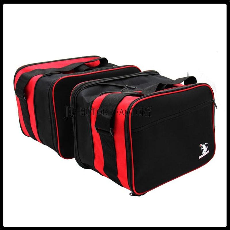 حقائب Pannier Liner قابلة للتوسيع باللون الأحمر/الأسود زوج جديد عالي الجودة لسيارات BMW R1200RT R1200R K1200GT K1300GT
