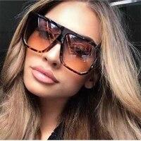 sexy square sunglasses women fashion brand oversized sun glasses female black brown shades for men ladies lunette femme oculos