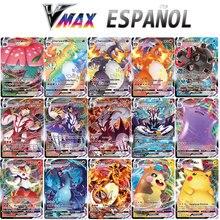 Nuove carte Pokemon in spagnolo TAG TEAM GX VMAX Trainer Energy gioco di carte da gioco olografiche gioco per bambini arduano espol