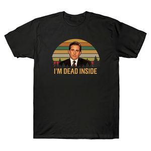 Michael Scott I Am Dead Inside The Office TV Show Vintage T-Shirt Men's Tee Top Funny Print Tshirt Men Harajuku Ullzang T-shirt