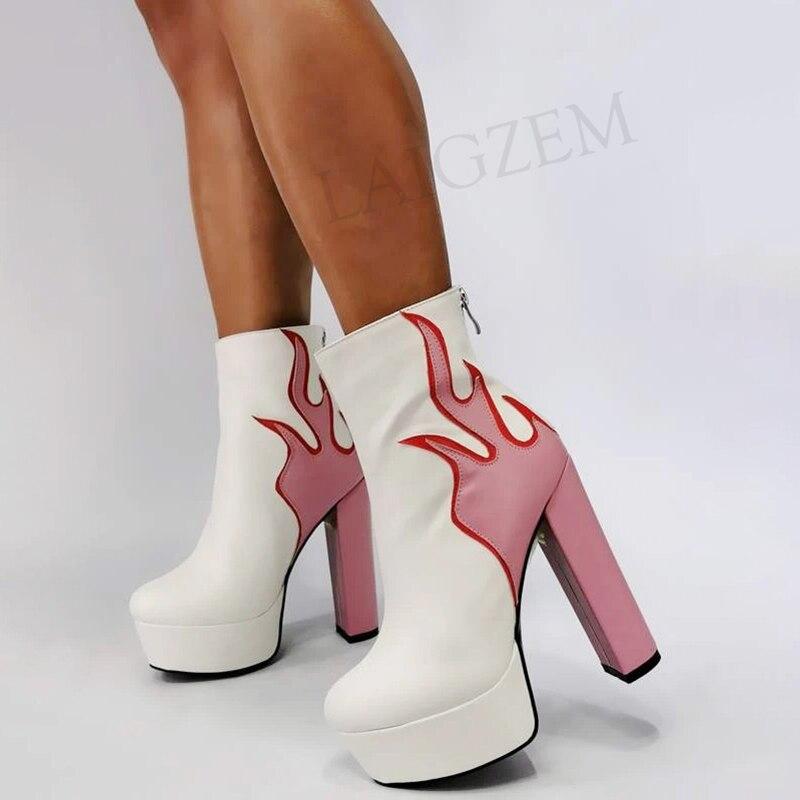 بيرزيمر-حذاء نسائي بكعب عالٍ ، حذاء نسائي بنعل سميك ، مقاس كبير 43 44 45 47