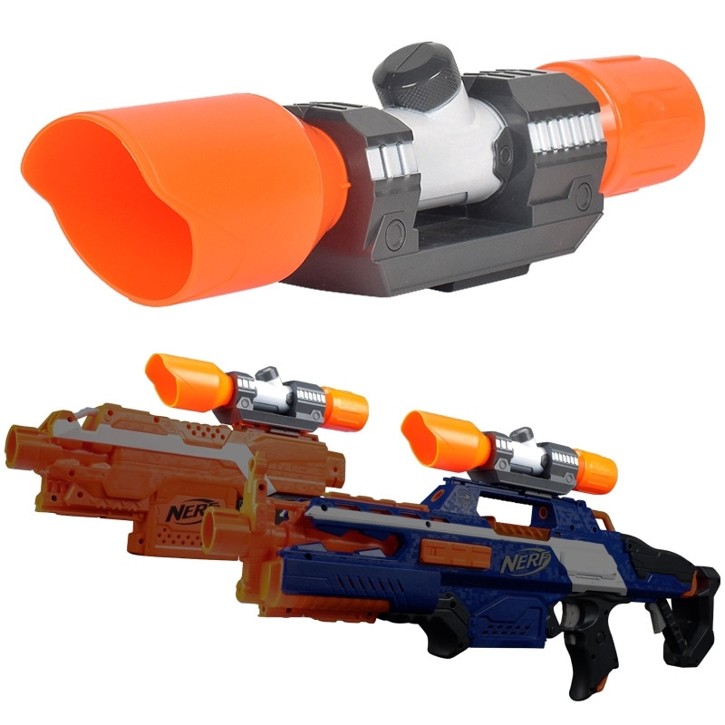 modified part front tube sighting device for nerf elite series orange grey Compatible Modified Part Front Tube Sighting Device for Nerf Elite Series Fit for Kids Toy Gun