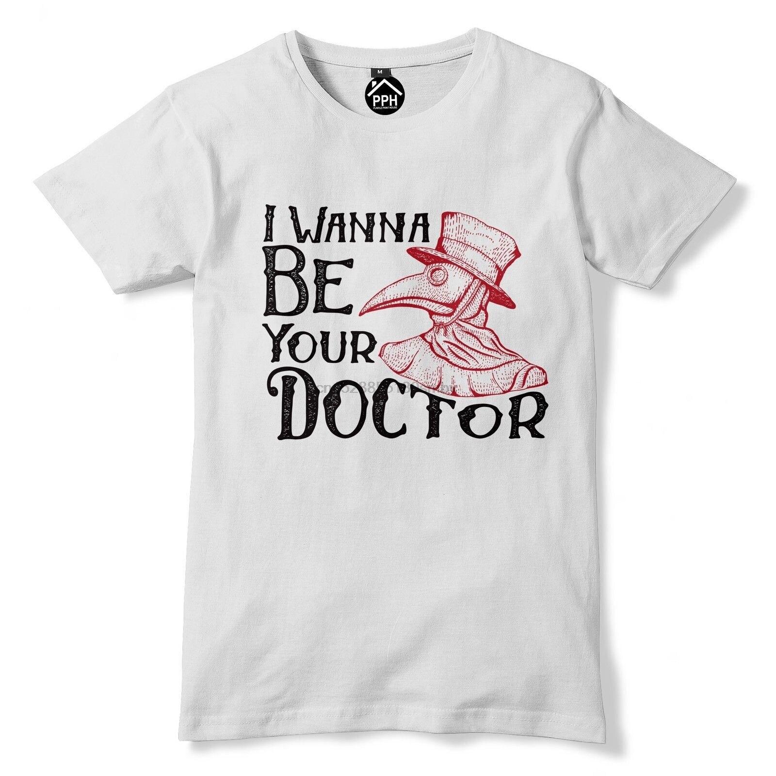 Я хочу быть вашим доктором Футболка Маска Чумного доктора викторианская птица Хэллоуин 144