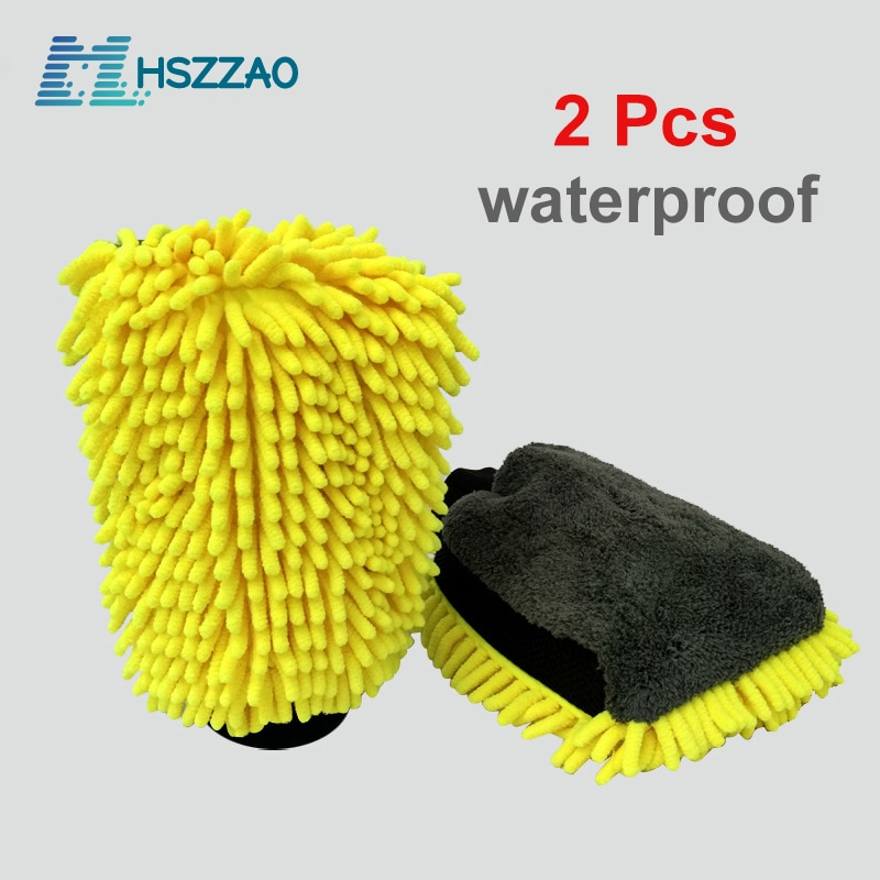 1 pcs 16 inch flexible blue car wash brush long microfiber noodle chenille alloy wheel cleaner 2 Pcs Ultra-Luxury Microfiber Car Wash Gloves Car Cleaning Tool Wheel Brush Multi-function Cleaning Brush Detailing