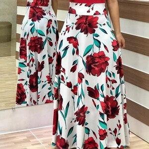 2021 Summer  Half-length Dress Plus Size Long Evening Dress Print Stitching Flower Casual Elegant Sexy Woman Long Dress Female