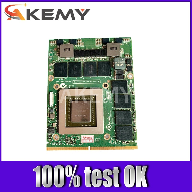 Akemy Original GTX680M VGA Video tarjeta gráfica N13E-GTX-A2 2G CN-020HTK 20HTK para Dell Alienware M17X R2 R4 M18X R2 prueba completa