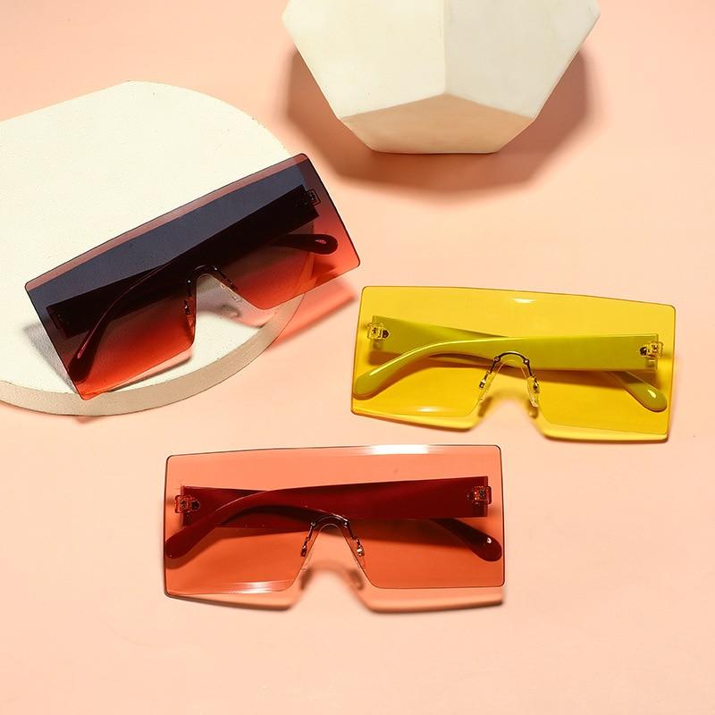 2021 Retro Sunglasses Women Brand Designer Fashion Rimless Gradient Sun Glasses Shades Cutting Lens