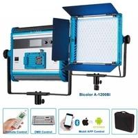 yidoblo a 1200bi lcd display led lamp soft light bio color led panel light for broadcast photography lamp app remote control set