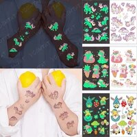 temporary tattoos for boys girls children small face colored baby luminous cute unicorn dream pink magic castle glowing fake