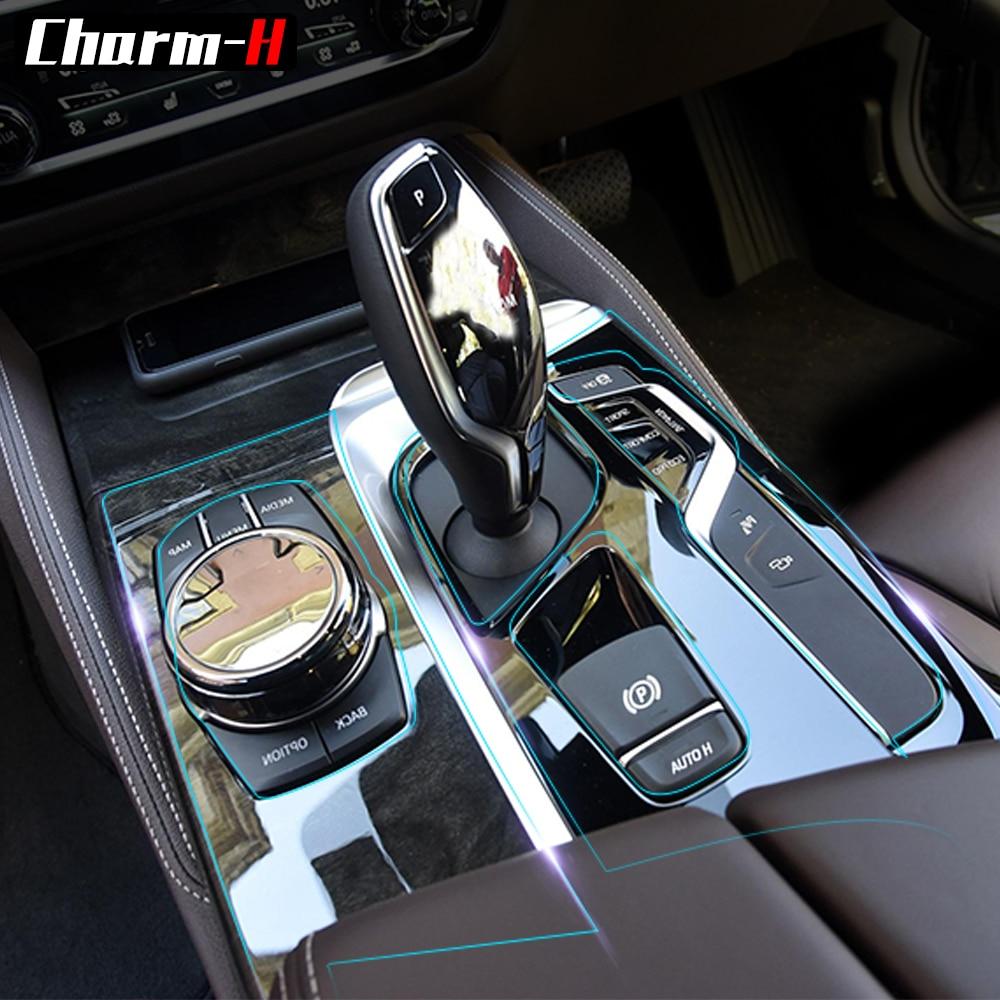 Car Interior Trim Dashboard CD Panel Clear Paint TPU Protective Bra Film Stickers for BMW 5 Series 525i 530i 540i G30 RHD 2018