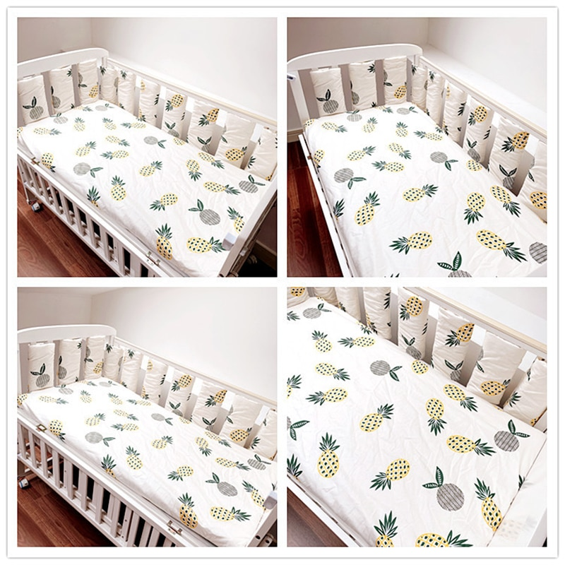 BABYINNER Baby Crib Bumper 10PCS/Set Newborn Cot Protect Anti-collision Infant Bed Bumpers Breathable Safety Guardrail Home enlarge
