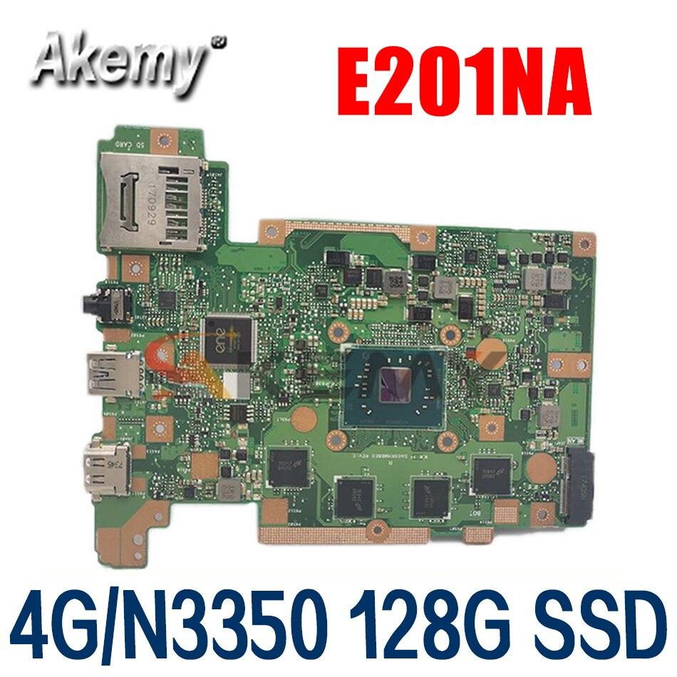 E201NA حاسوب محمول مع 4G/N3350 128G SSD متوافق مع آسوس E201NAS E201NA E201N حاسوب محمول اللوحة الرئيسية مختبرة بالكامل 100%