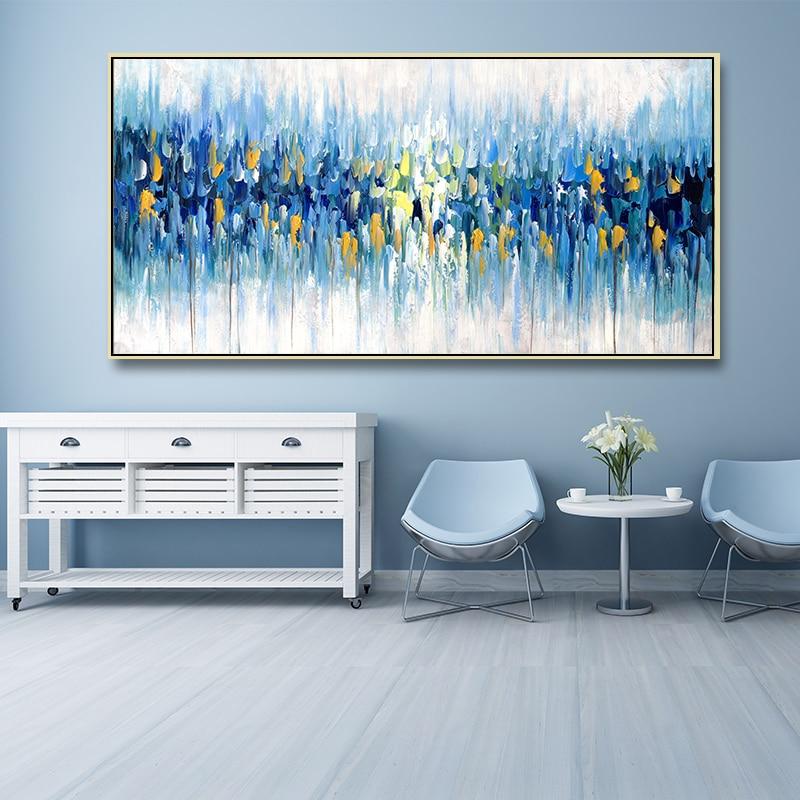 Современный синий нож Холст Картина абстрактная печать картины домашнее Искусство Декор стены Декор эстетика постеры гостиная квадраты